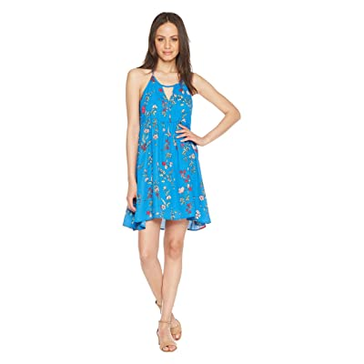 Jack by BB Dakota Maliyah Super Bloom Printed Dress (Azure Blue) Women