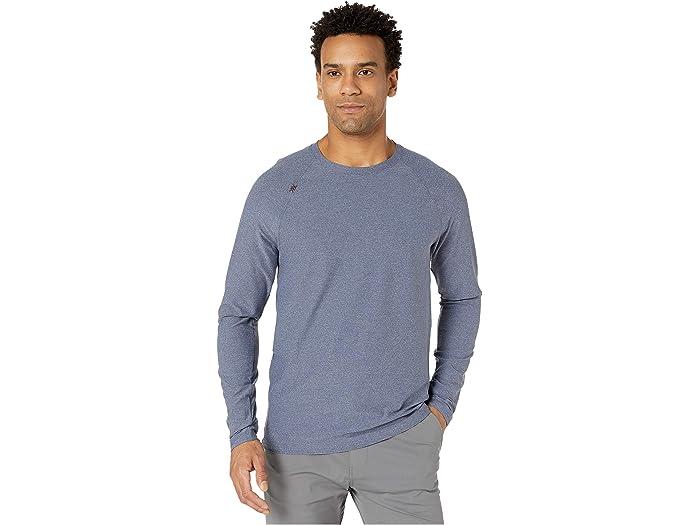 Rhone Mens Reign Long Sleeve Black Athletic Performance T Shirt