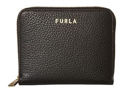 Furla Next Small Zip Around (Nero) Handbags
