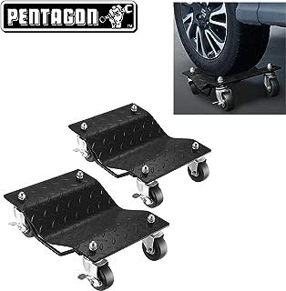 Pentagon Tool | Premium 2-Pack | Car Tire Dolly - Tire Skates | 1,500 lbs Rating | Black