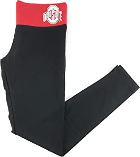 Pink Ohio State University Yoga Leggings Black Red Small
