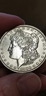1896 -P MORGAN SILVER DOLLAR-SHARP DETAIL BRILLIANT UNCIRCULATED -ON SALE!!!-VERN'S CARD & COIN $1 BU details