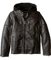 Urban Republic Kids - Faux Leather Biker Jacket (Little Kids)