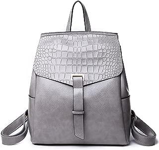 New Women's Backpack Multi-Function Travel Backpack Ladies Shoulder Bag Ladies Bag (Color : Gray, Size : M)