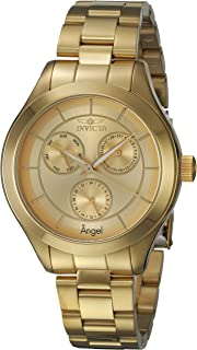 Invicta Women's Angel Quartz Watch with Stainless-Steel Strap, Gold, 18 (Model: 21694)