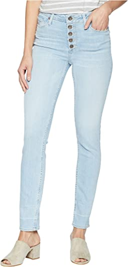 Hoxton Ankle Peg Jeans with Exposed Buttons and Caballo Inseam in Yosemite