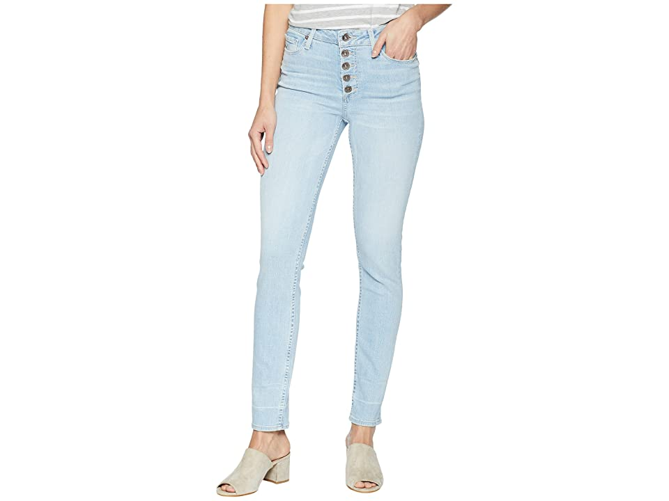 Paige Hoxton Ankle Peg Jeans with Exposed Buttons and Caballo Inseam in Yosemite (Yosemite) Women's Jeans, Blue