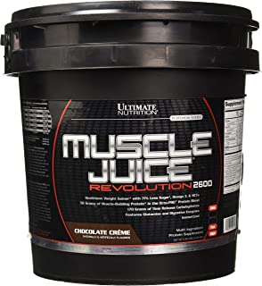 Ultimate Nutrition Muscle Juice Revolution Weight and Lean Muscle Mass Gainer Protein Powder with Glutamine, Micellar Case...