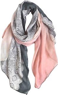 GERINLY Fashion Lace Print Scarf Lightweight Soft Wrap Shawl