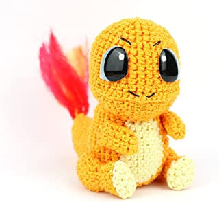 Handmade Crochet Charmander, Stuffed Toy, Amigurumi, Gift