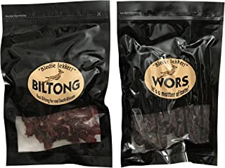 Bledie Lekker Biltong Droewors Bundle (8oz + 8oz) real South African style