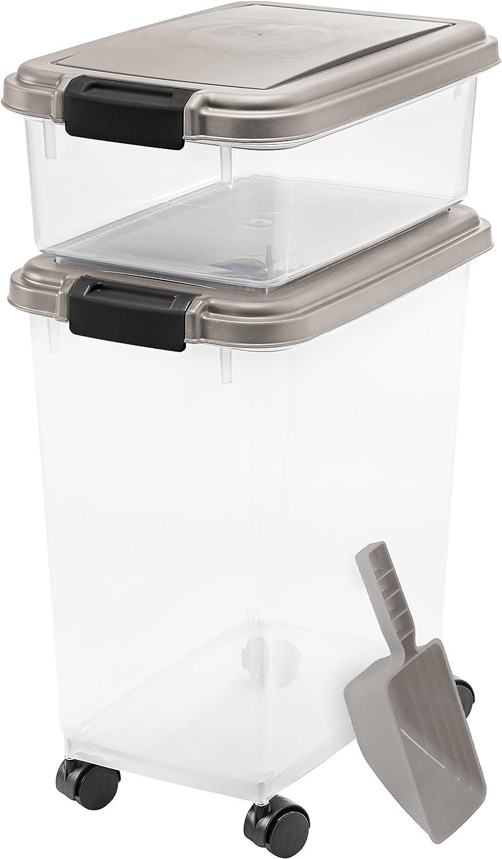 IRIS USA 3 Large Airtight Pet Food Storage Container