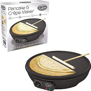 Quest 35540 traditionell elektrisk pannkaka & Crepe Maker 30 cm varm tallrik och redskap, 1 000 W,