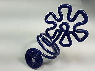 Ronds de serviette,blue.Modele Fleur