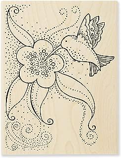 Stampendous Laurel Burch Stamp Hummingbird Blossom