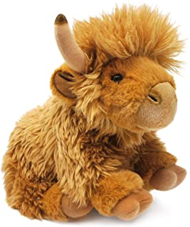 Kcft 23cm Living Nature Highland Cow Soft Toy W/ Sound