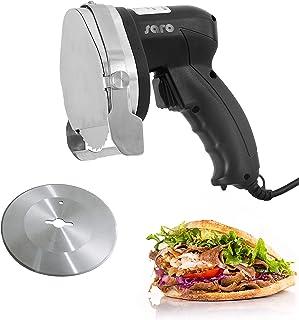 Saro 418-1020 ED 100 Couteau électrique professionnel pour kebab et gyros Noir