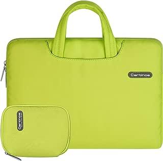 cartinoe 13 . 3インチのラップトップスリーブバッグ女性ファッションハンドバッグ婦人の手にブリーフケースキャリングケース-リンゴmacbookプロ13、ipadのプロ、表面の本・デルとhp 13インチのchromebook (黄色い)
