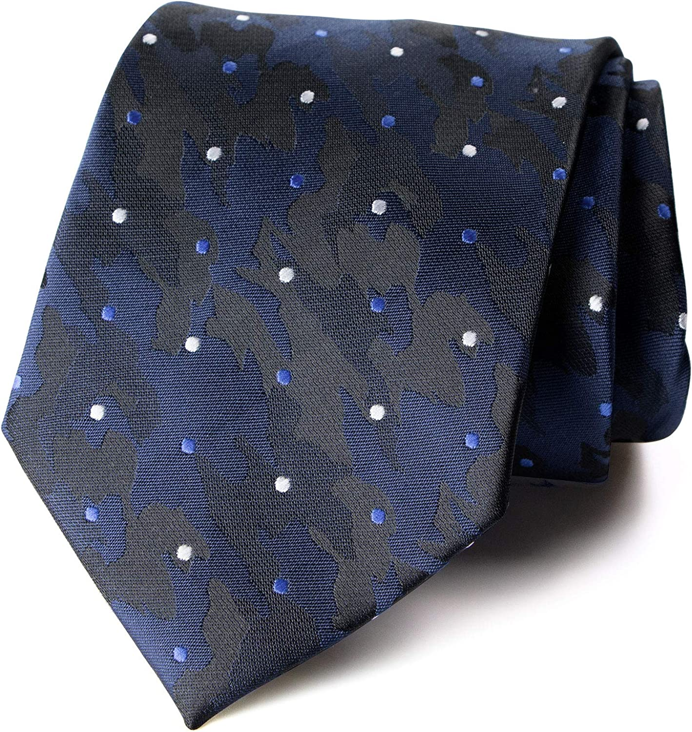 Spring Notion Men's Dotted Camoflouge Woven Necktie