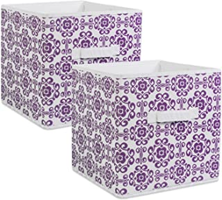 DII Foldable Fabric Storage Bins for Nursery, Offices, Home, Containers are Made to Fit Standard Cube Organizers, Small, Eggplant