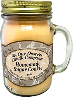 Our Own Candle Company Homemade Sugar Cookie Scented 13 Ounce Mason Jar Candle