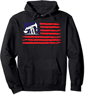 Patriotic Gift for American Roughneck USA Oil & Gas Industry Pullover Hoodie