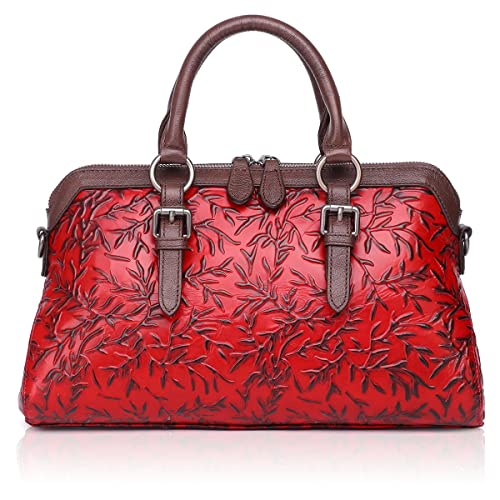 ec441f514eb5 APHISON Women Genuine Leather Handbag Large Capacity Tote Bags Embossed Design  Shoulder Bag for Ladies 81084