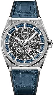 Zenith Defy Classic Blue Titanium Skeletonised Movement Watch 95.9000.670/78.R584