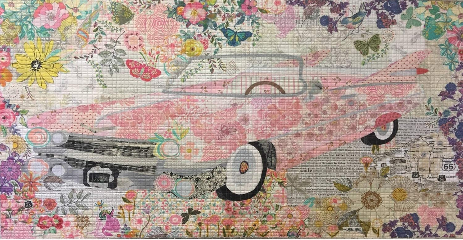Pink Cadillac Collage Applique Quilt Trust Laura Max 50% OFF from by Heine Pattern