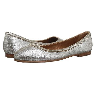 Frye Carson Ballet (Silver Multi Brushed Metallic) Women