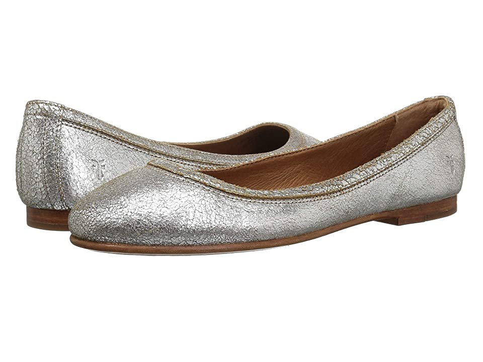 Frye Carson Ballet (Silver Multi Brushed Metallic) Women