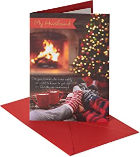 American Greetings Christmas Card for Husband (Fireplace)