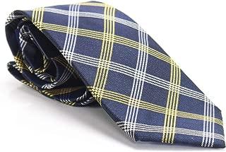 Mens Silk Plaid Regular Tie Navy O/S