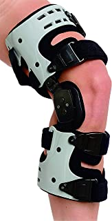 Superior Braces OA Unloader Knee Brace for Arthritis Pain, Osteoarthritis, Knee Joint Pain and Degeneration, Universal Size, Right Medial, Left Lateral, Gray & Black
