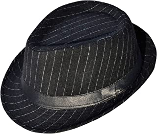 Sponsored Ad - Simplicity Men's Women's Manhattan Structured Gangster Trilby Fedora Hat