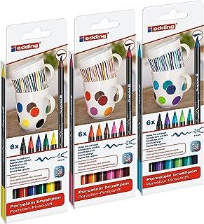 edding 4200 porseleinen penseelstiften (complete set van 18)