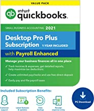 QuickBooks Desktop Pro with Enhanced Payroll 2021 Accounting Software for Small Business 1-Year Subscription with Shortcut...