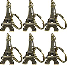 Ceeyali Metal Eiffel Tower Craft Art Statue Model for Table Decor,Cake Topper,Gifts,Party,Jewelry Stand Holder,Home Decoration,Bronze (20 Pack 5cm)