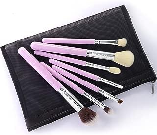 PINKPANDA Makeup Brushes 7 Pcs Honey Pink Professional Makeup Brush Set Premium Synthetic Cosmetic Foundation Blending Blush Concealers Eye Shadows Face Powder Brush Kabuki Travel Make Up Brushes Kit
