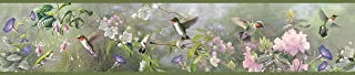 Chesapeake HTM48532B Ruby Moss Hummingbird Garden Wallpaper Border