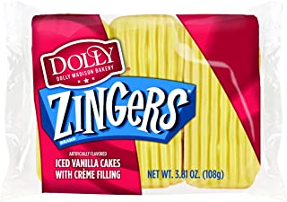Dolly Madison Zingers, Iced Vanilla, 3 Cakes (Pack of 6)