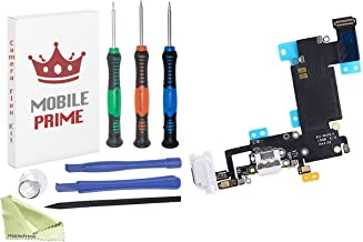 MobilePrime White Charging Port Replacement Kit Compatible for iPhone 6S Plus Including Pro-Series Repair Tools - 821-00126-A