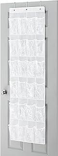 Whitmor OTD Shoe Bag, 24 Pocket White Crystal