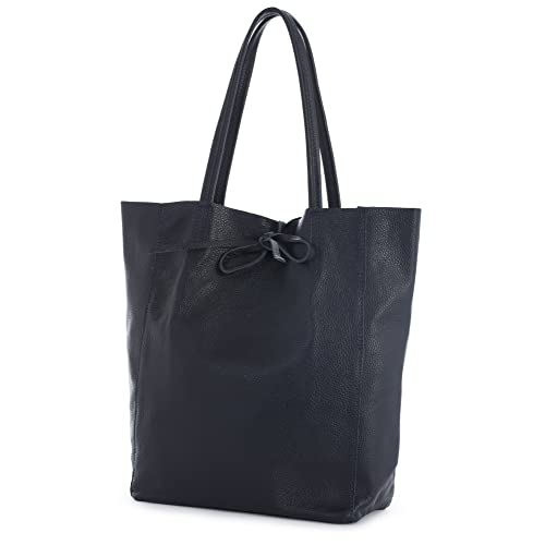 b9a56a7f58 LIATALIA Large Soft Shoulder Tote Bag 100% Real Italian Leather Ideal Gift  for Women -