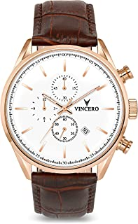Vincero Luxury Men's Chrono S Wrist Watch - Top Grain...
