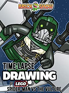 Clip: Time Lapse Drawing of Lego Spider-Man vs. The Vulture