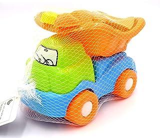 ZeeSquare Outdoor Truck Toys Beach Sand Toys Set Construction Toys Sand Castle Building Kit Baby Beach Toys 6 Pc Dump Truc...