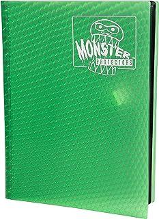 Monster Binder - 9 Pocket Trading Card Album - Holofoil Green - Holds 360 Yugioh, Magic, and Pokemon Cards