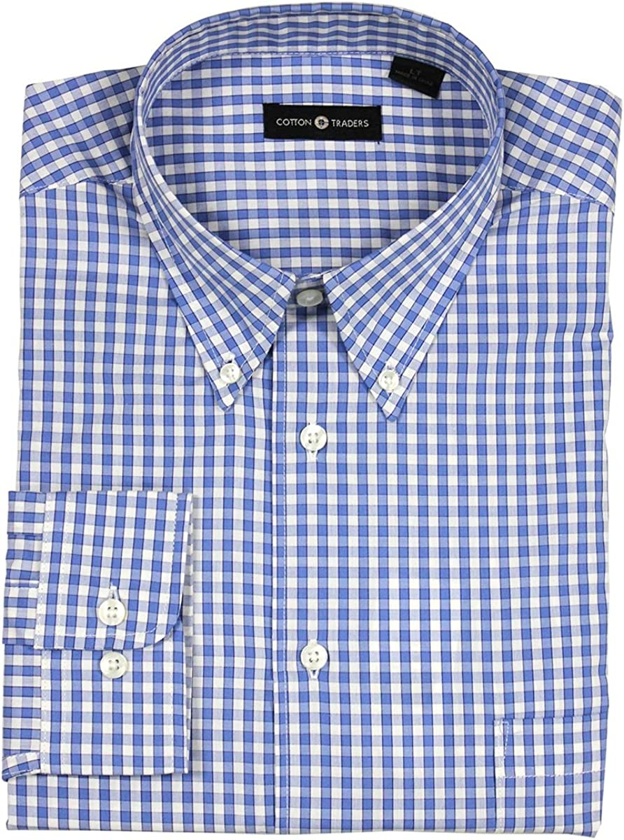 Cotton Traders Men's Casual Long Sleeve Button Down Shirt