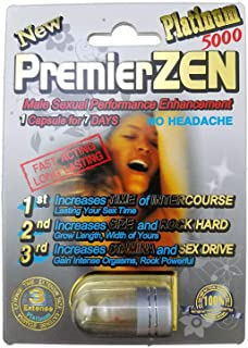 PremierZen Platinum 5000 - 20 Pills Male Enhancement Pill - Fast US Shipping